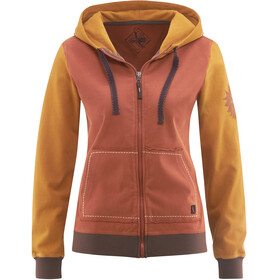 Red Chili Bege Zip Hoody Women papaya